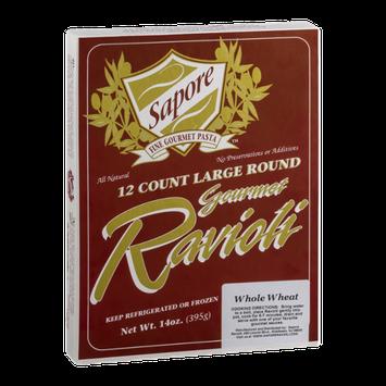 Sapore Fine Gourmet Pasta Large Round Ravioli Whole Wheat - 12 CT