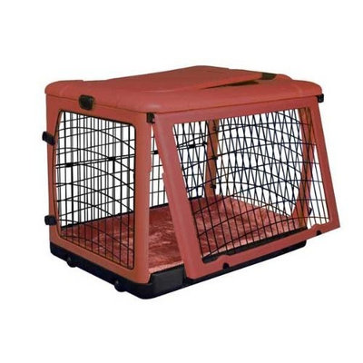 Pet Gear The Other Door Steel Crate with Plush Bolster Bed for cats and dogs