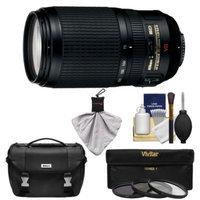 Nikon 70-300mm f/4.5-5.6 G VR AF-S ED-IF Zoom-Nikkor Lens with Gadget Bag + 3 UV/CPL/ND8 Filters + Kit for D3200, D3300, D5200, D5300 DSLR Cameras