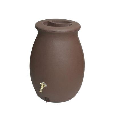 Algreen 50 gal Castilla Rain Barrel with Spigot, Dark Brown