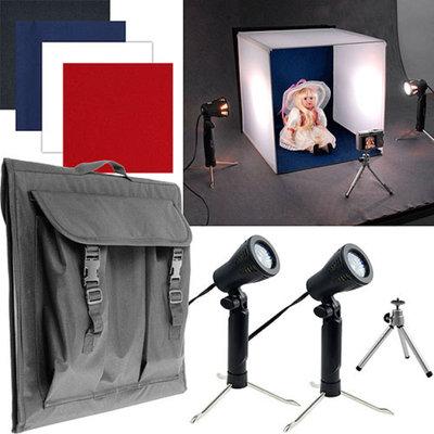 Trademark Deluxe Table Top Photo Studio Photo Light Box