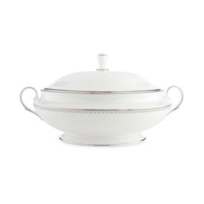 Lenox Pearl Platinum Covered Vegetable Bowl, 10 1/2