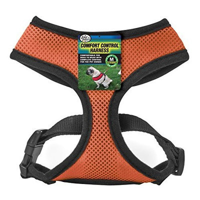 Four Paws Large Orange Comfort Control Dog Harness For Small Breed Dogs