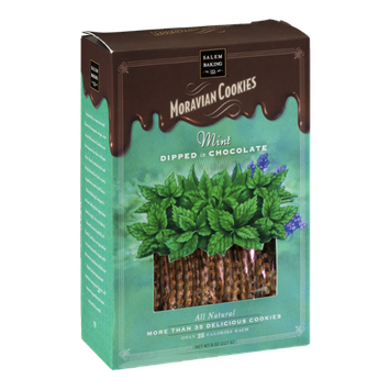 Salem Baking Co. Moravian Cookies Mint Dipped in Chocolate