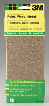 3m 9in. Course Paint Wood Metal Sandpaper Third Sheets 9017NA