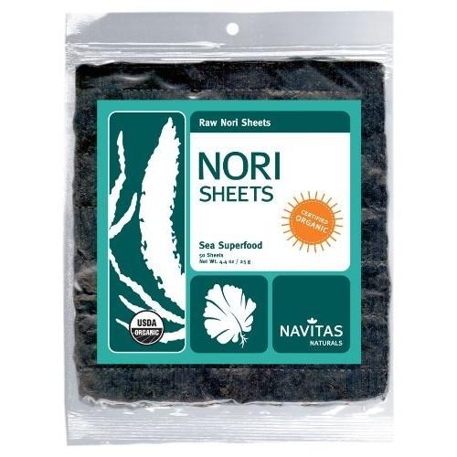 Navitas Naturals Organic Raw Nori Sheets, 50-count