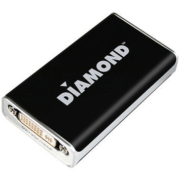Diamond Multimedia Diamond BVU195 USB Display Adapter Pro - up to 2048x1152, 1900x1200, 32 bit, DVI, VGA, HDMI, PC/MAC