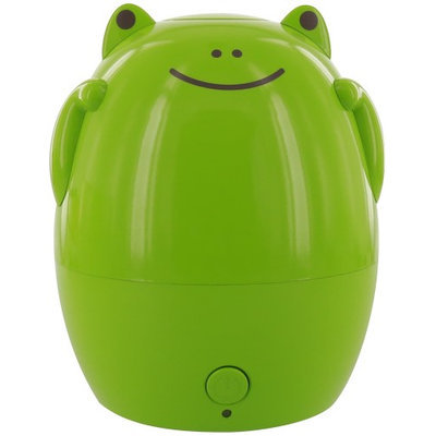 Greenair Kids Aroma Diffuser And Humidifier - Frog - 2n1 Frog Childs Ultrasonic Aromatherapy Diffuser And Humidifier - Place In Kids Room Or With Family When Travel - Water Bottle Adapters (527 3)