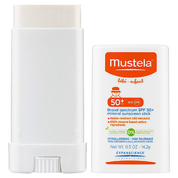 Mustela Broad Spectrum SPF 50+ Mineral Sunscreen Stick 0.5 oz