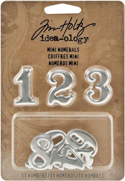 Leeco Industries Inc. Idea-Ology Metal Mini Numberal 11/Pkg-0-9 Plus 1/2