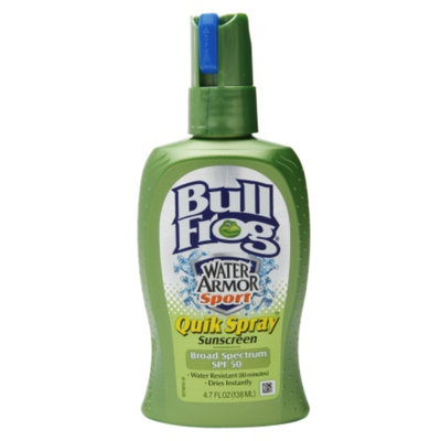 Bull Frog Water Armor Sport Quick Spray Sunscreen, SPF 50, 4.7 oz