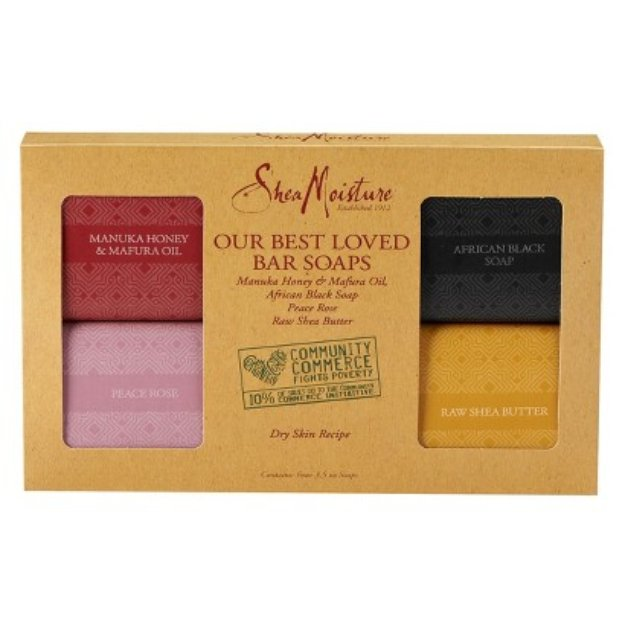 SheaMoisture Our Best Loved Bar Soaps - Contains Four 3.5 oz Soaps