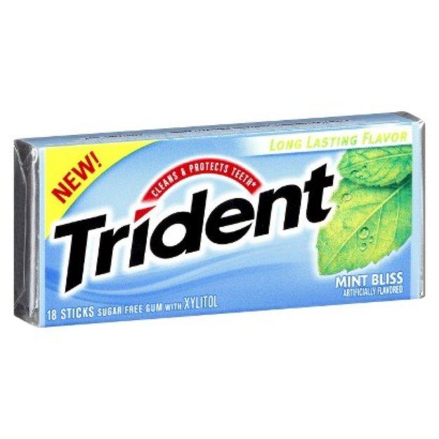 Trident Mint Bliss Sugar-Free Gum 18 pc