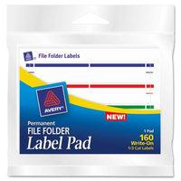 Avery Assorted File Folder Label Pad - 1/3 Cut