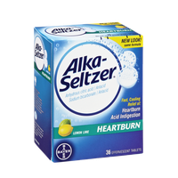 Alka-Seltzer Lemon Lime Heartburn Effervescent Tablets - 36 CT