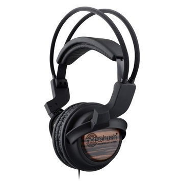 NX22R-12447 NoiseHush NX22R 3.5mm Stereo Headphones with In-Line Mic - Wood - Retail