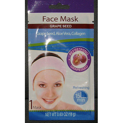 Anti Aging Grape Seed Face Mask With Aloe Vera & Collagen