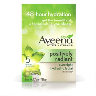 Aveeno® Positively Radiant Overnight Hydrating Facial