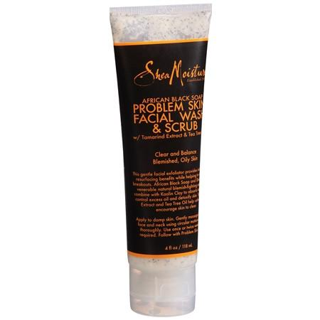 SheaMoisture African Black Soap Problem Skin Facial Wash & Scrub