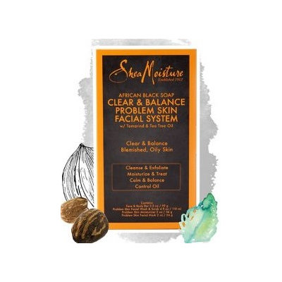 SheaMoisture African Black Soap Clear & Balance Problem Skin Facial System