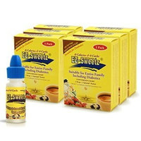 EZ-Sweetz (6 Packs 0.2 oz - Liquid Sweetener 180 Servings/Bottle)