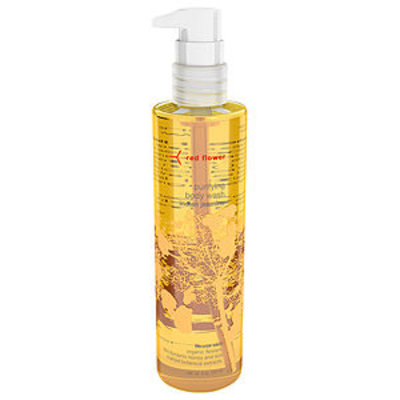 red flower purifying body wash