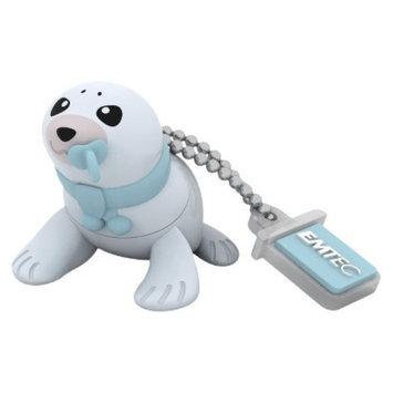EMTEC Emtec Animalitos Baby Seal M334 8GB USB Flash Drive - Multicolor