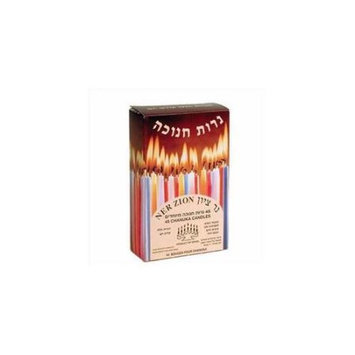 Holy Land Gifts 107119 Candle Menorah Candles Blue White 4 In.