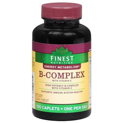 Finest Nutrition B-Complex Vitamin C with Folic Acid and Biotin Caplets