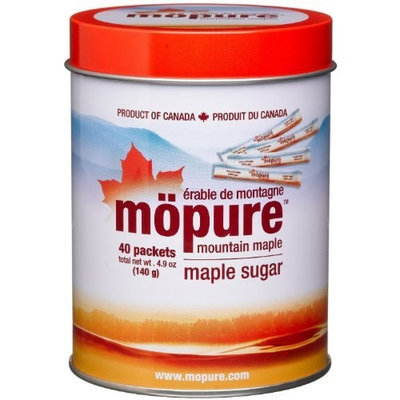 Mopure Mountain Maple Sugar - 40 Packets (Total weight of 4.9 oz.)