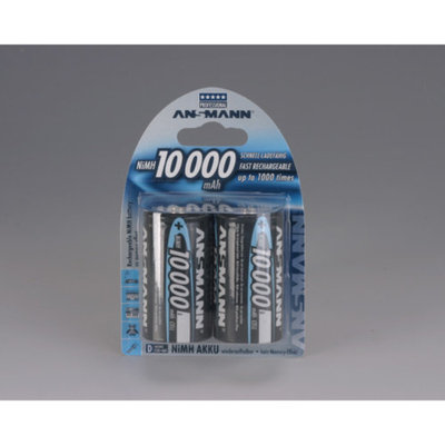 Ansmann 5030642 Ansmann D Cell 10000 mAH Rechargeable Batteries 2 -Pack