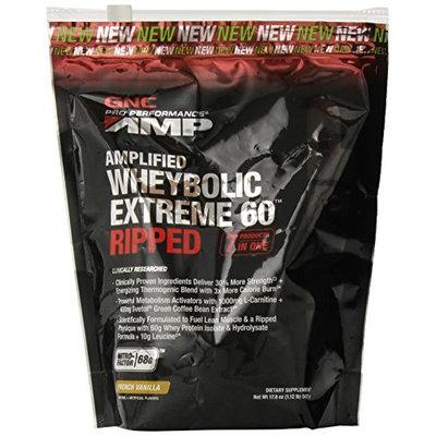 GNC Pro Performance AMP Amplified Whey-Bolic Extreme 60 Ripped Powder, French Vanilla, 1.12 Pound [French Vanilla]