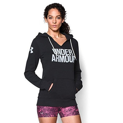 Under Armour Women's UA Favorite Fleece Hoodie [Black/White, Medium]