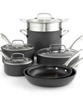 Cuisinart 11-Piece Dishwasher Safe Anodized Cookware Set