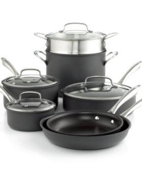 Cuisinart 11-Piece Dishwasher Safe Anodized Cookware Set