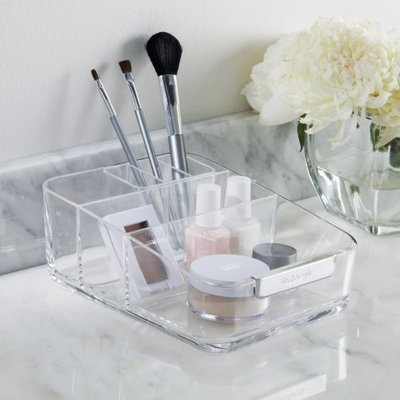 Us Acrylic U.S. Acrylic® Signature Collection- Large Acrylic Cosmetics Organizer with Removable Compartment