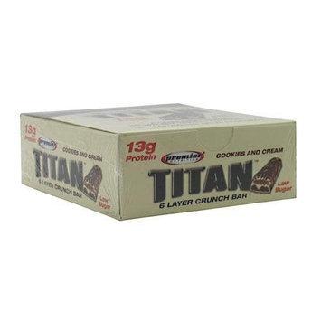 Premier Nutrition Titan Bar Cookie&Cream 40G 6/B