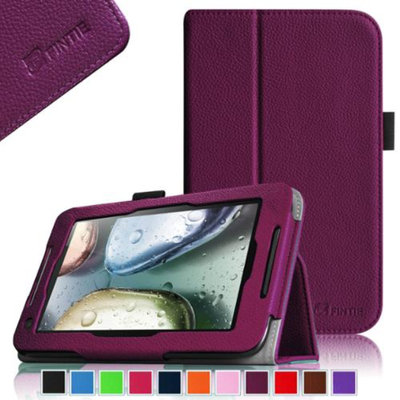 Fintie Lenovo IdeaTab A1000 7-Inch Android Tablet Folio Case - Premium Leather Cover Stand With Stylus Holder, Purple