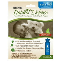 SERGEANTS PRODUCTS Sentry Natural Defense Natural Flea and Tick Squeeze-On for Dogs and Puppies