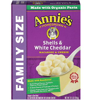 Annie's® Shells White Cheddar Family Size