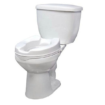 Drive Medical 12062 Raised Toilet Seat without Lid 2 inch