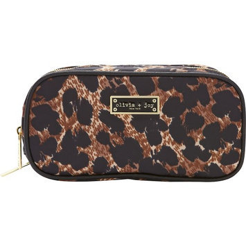 Olivia + Joy Zoom Zoom Duffle Cosmetic Bag Leopard - Olivia + Joy Ladies Cosmetic Bags