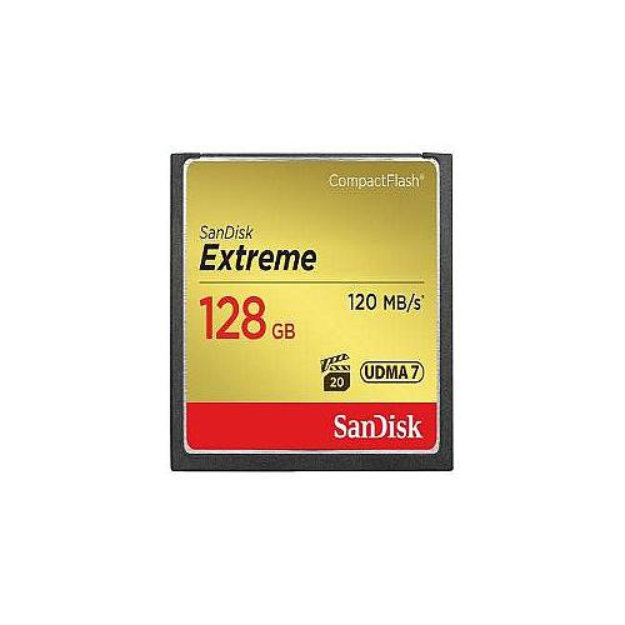 SanDisk Extreme - Flash memory card - 128 GB - CompactFlash