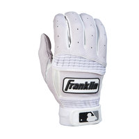 Franklin Sports Neo Classic II Adult Series Batting Glove, Whtie - Small