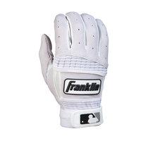 Franklin Sports Neo Classic II Adult Series Batting Glove, Whtie - Small