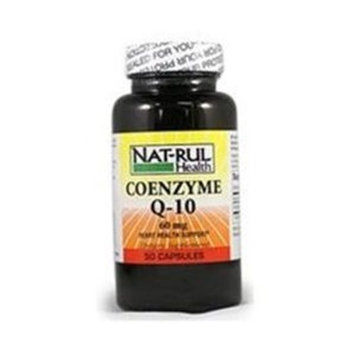 Nat-rul Health Products CO-ENZYME Q-10 CAP 60MG N-R Size: 50