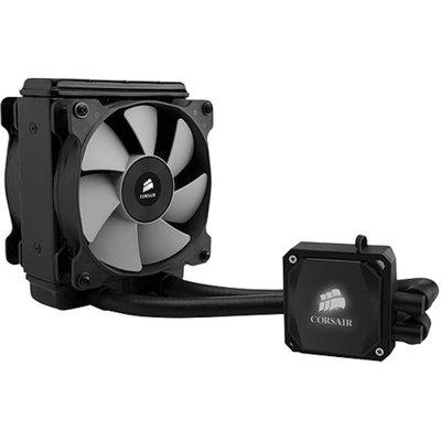 Corsair - Hydro Series H80i Extreme Liquid/Water CPU Cooler - 2 x 120mm Fan, 2700RPM, 77CFM, 37.dBA, Multi-Socket Suppor