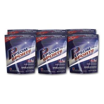Pepsom Sports Wintergreen Epsom Salts, 16 Ounce Bag (Pack of 6)