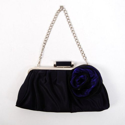Shanghai Chang Classic Shoulder Clutch Bag Handbag Tote Navy Blue