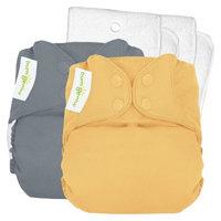 Bum Genius bumGenius 4.0 Snap Reusable Diaper 2 Pack - Armadillo/Clementine